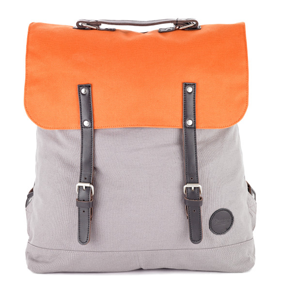 Grey/Orange Top Flap