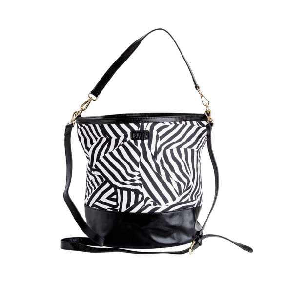 Zebra Bucket Bag