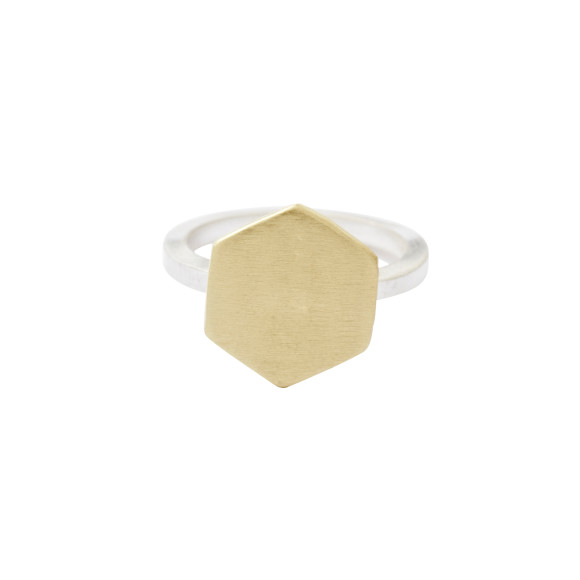 Brass hexagon