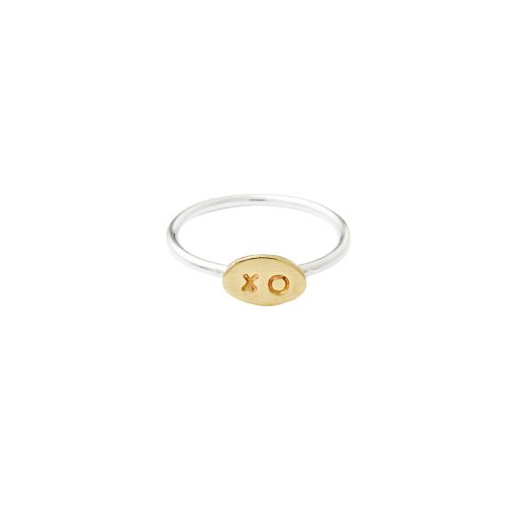 Brass xo oval