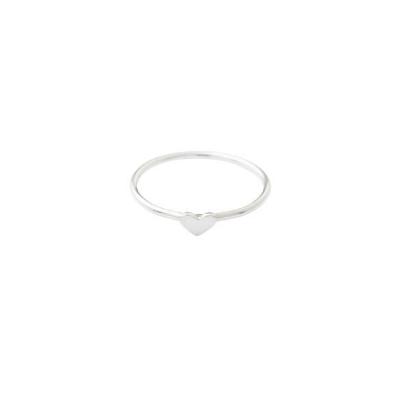 mini silver heart