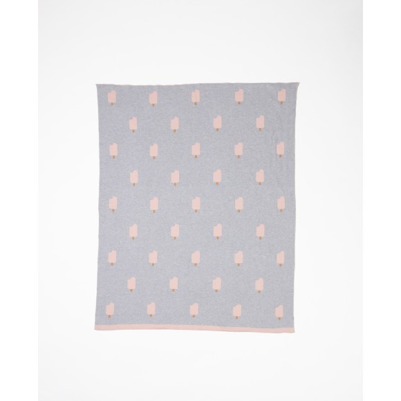 Woouf Blanket Ice Cream - Grey/Pink