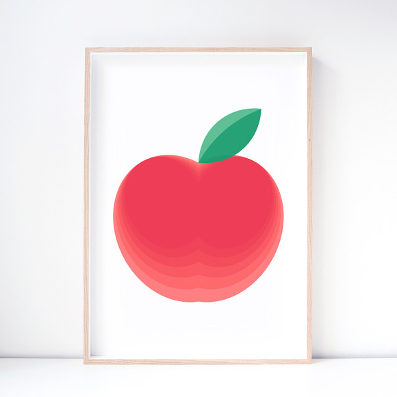 Red Delicious Apple Art Print