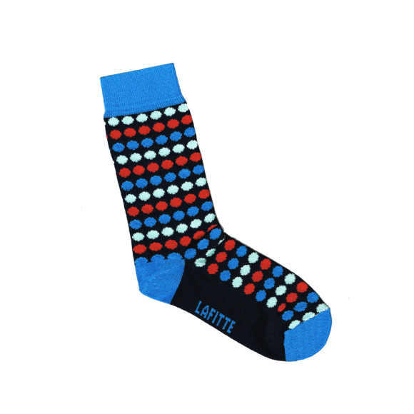 Navy blue spotted socks