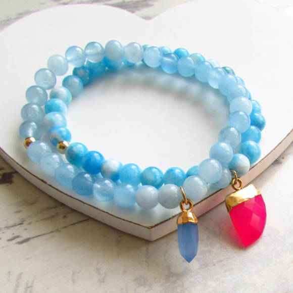 Sanibel mountain jade and azure bracelet
