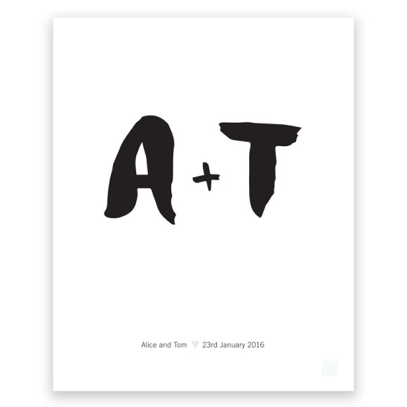 Personalised Type Print