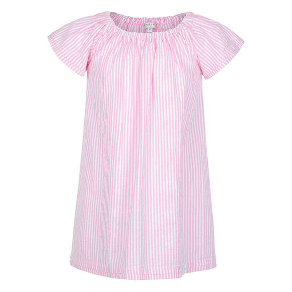 Pink Seersucker Nightie for Girl's