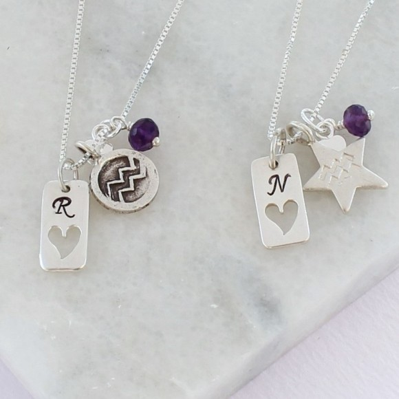 aquarius with amethyst