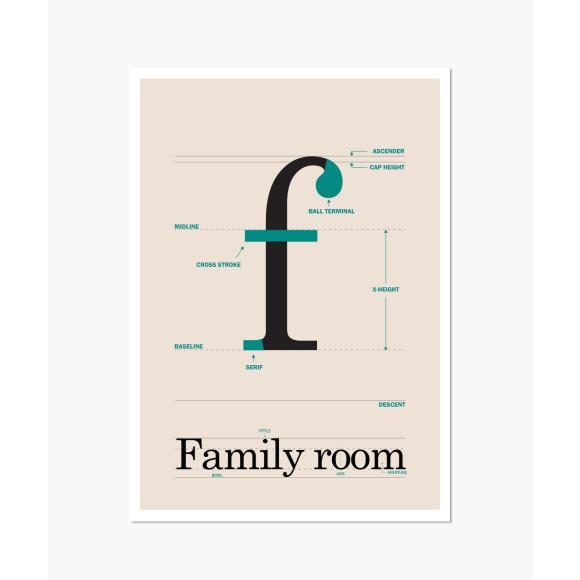 Family room print
