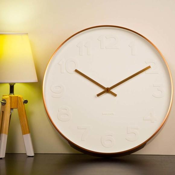 Mr White copper wall clock