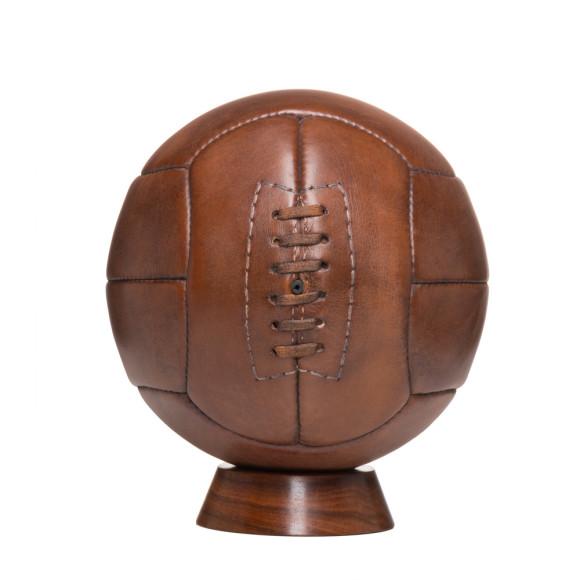Vintage style leather 12 panel football