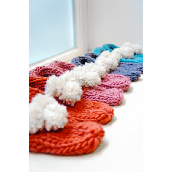 Beginners Slippers Knitting Kit