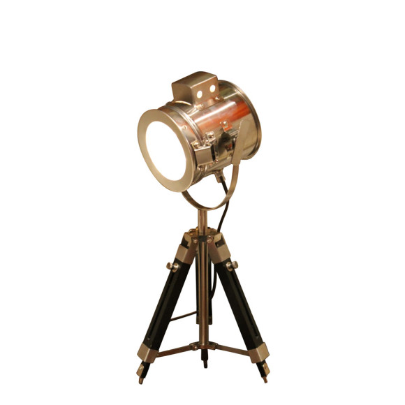 Industrial style wooden tripod light from Fat Shack Vintage