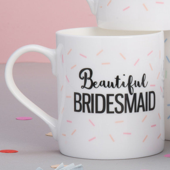 Personalised Bridesmaid Wedding Mug