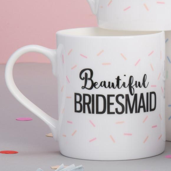 Personalised Bridesmaid Wedding Mug