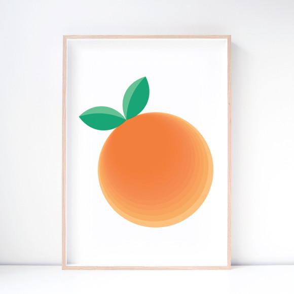 Clementine Orange Art Print