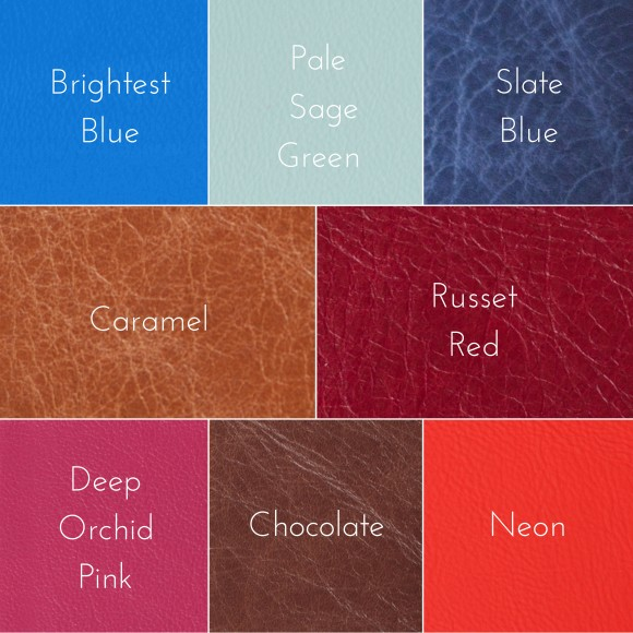 Hope House Press luxury leather colour choices