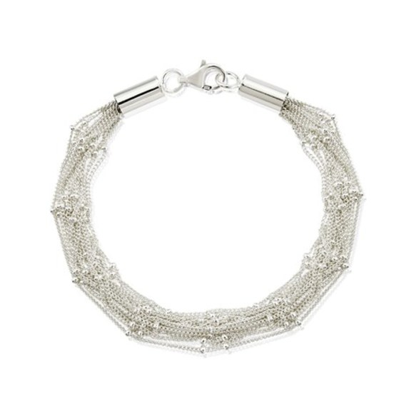 Cascade Multi Strand Silver Bracelet