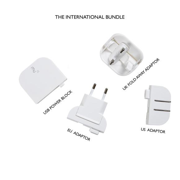 UK, US and EU plug bundle with