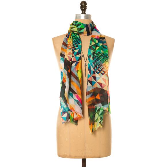 Harlequin print scarf