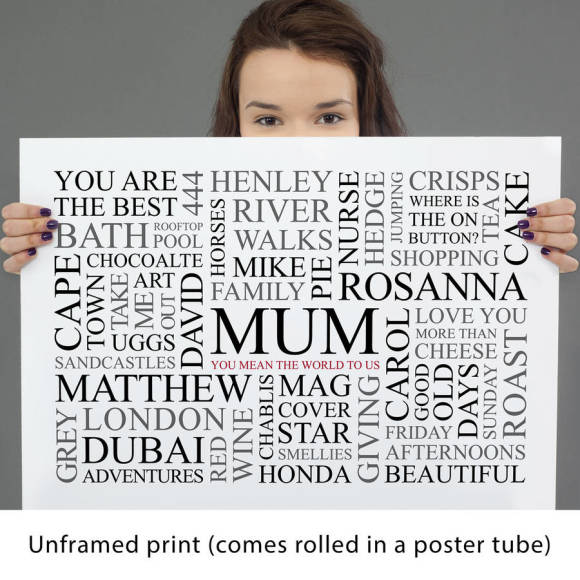 white unframed print