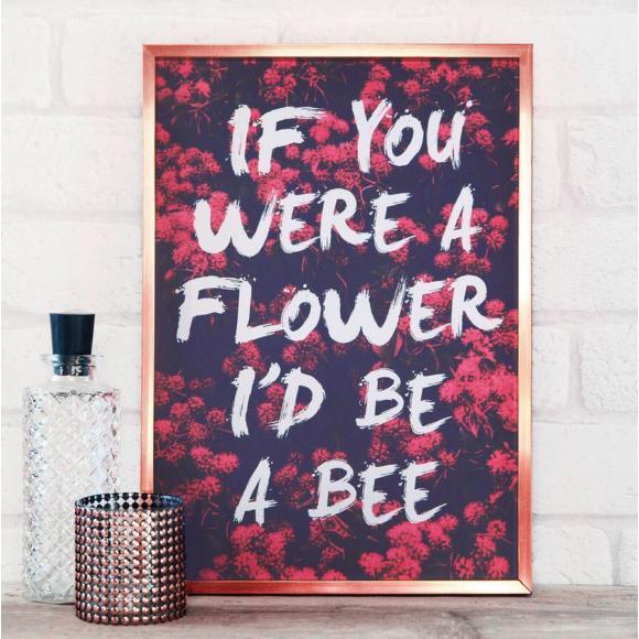 Flower Bee Print