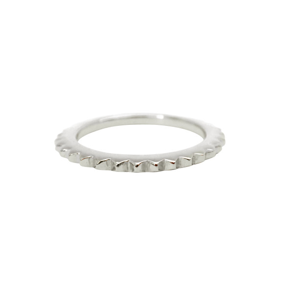 stud eternity ring sterling silver