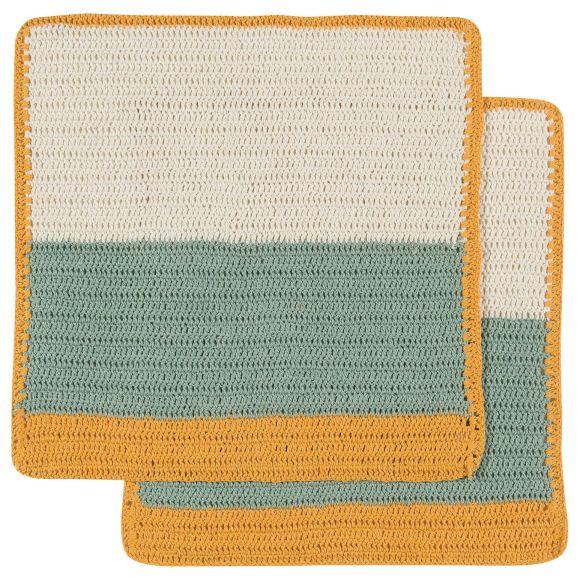 Sasha Crochet Dishcloths Honey