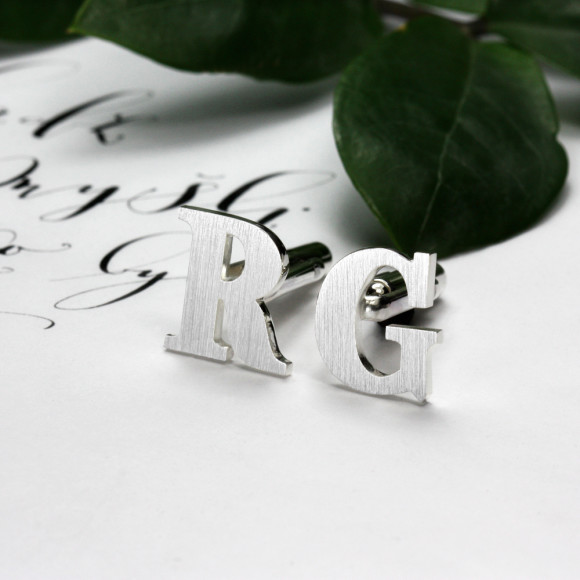 Custom Initials Cufflinks