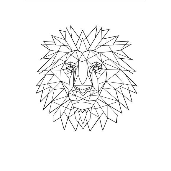 Geo Lion Print