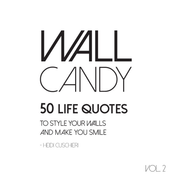 Wall Candy pull out print book (front cover)
