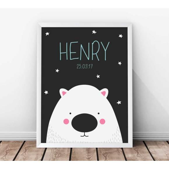 Personalised Wombat Kids' Print - Grey