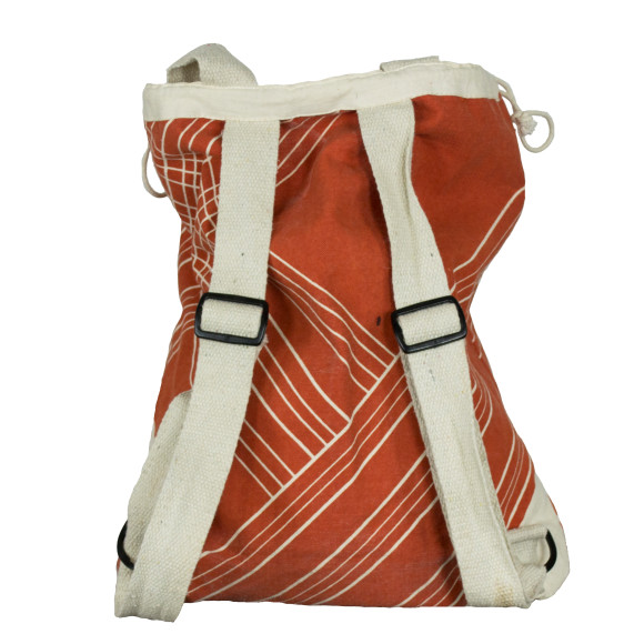 Orange stripe backpack