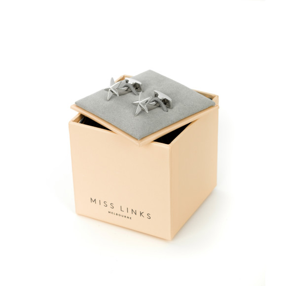Eleanor - Sterling Silver Cufflinks in box