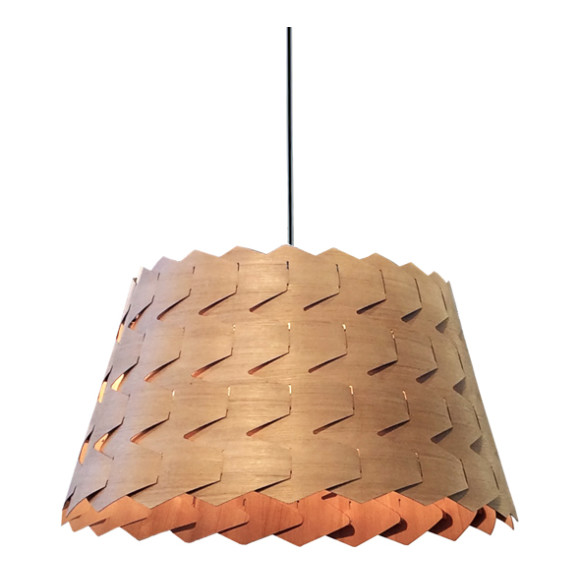 Reggie Cone Pendant Light in Tas Oak