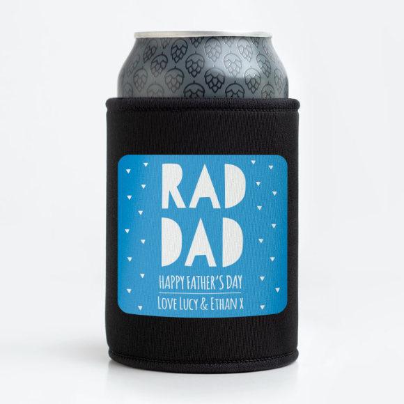 Personalised Rad Dad Stubby Holder