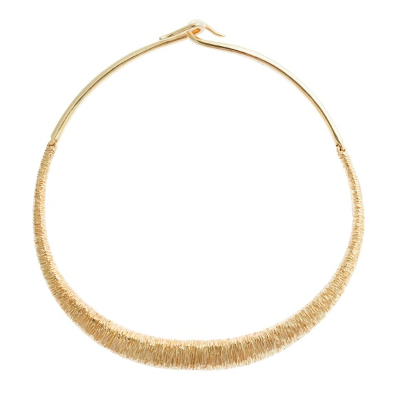 Hissia gold Marrakech statement necklace