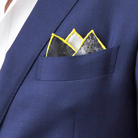 Ink Silk Pocket Square