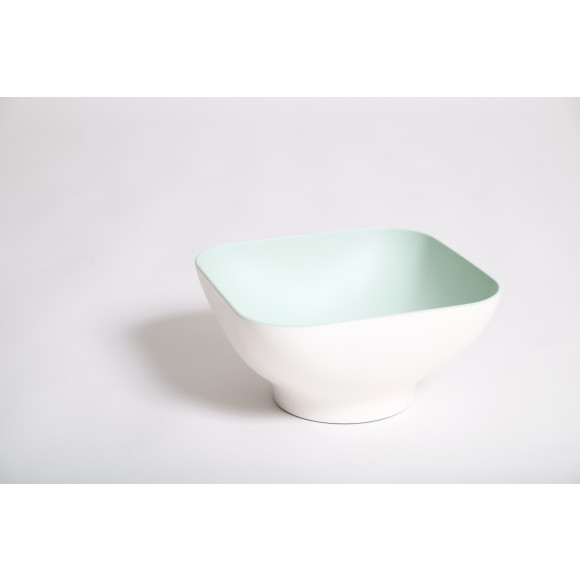 Colander Bowl with pop up strainer in Mint