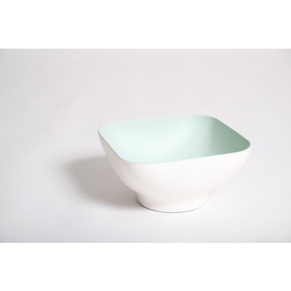 Colander Bowl with pop up strainer in Mint