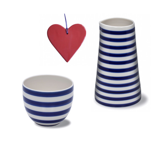 Stripes jug and cup