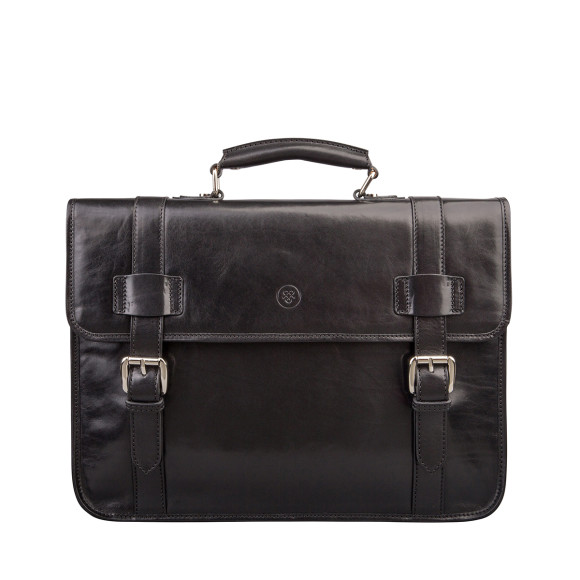 The Micheli Briefcase in Black