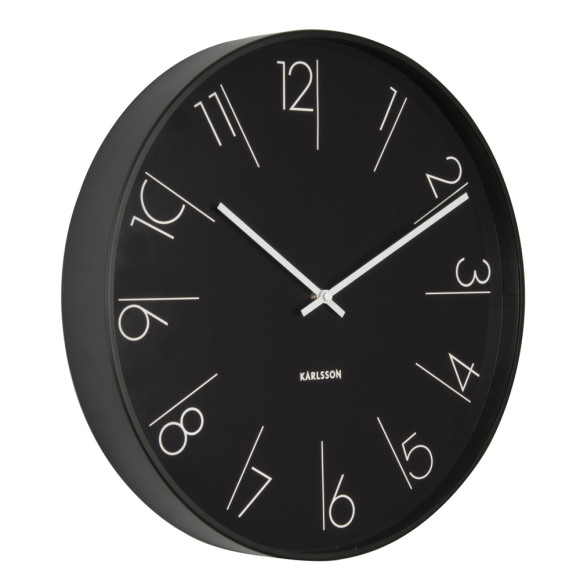 Black Wall Clock 'Elegant'