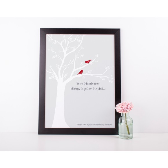 Personalised friendship art print