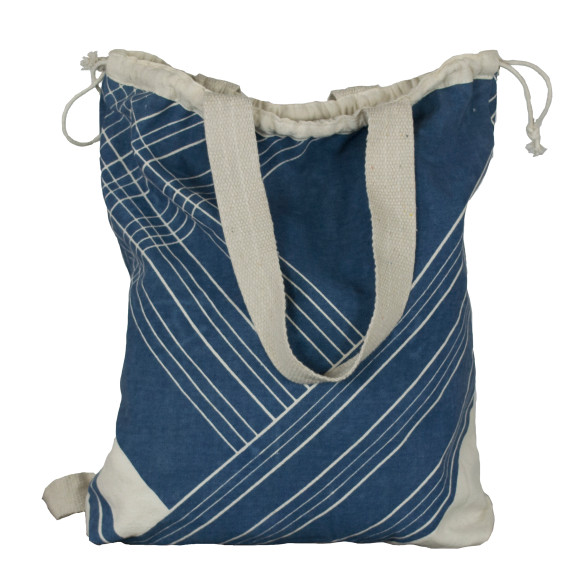 Blue stripe backpack