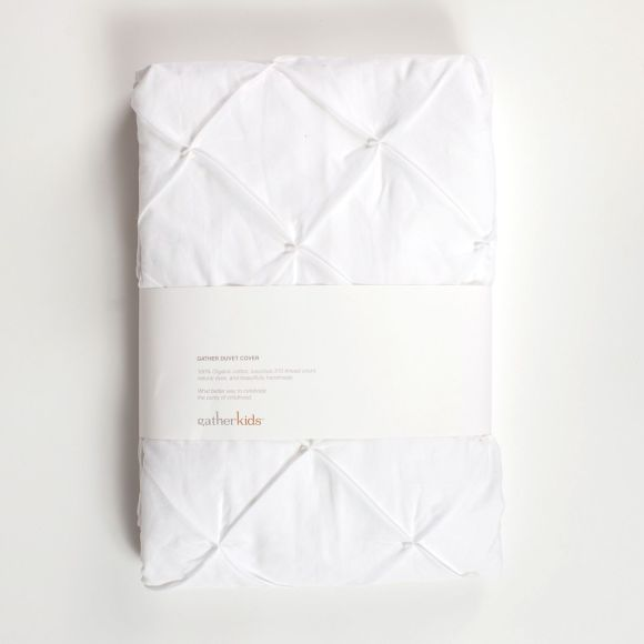 Gather Duvet Cover White