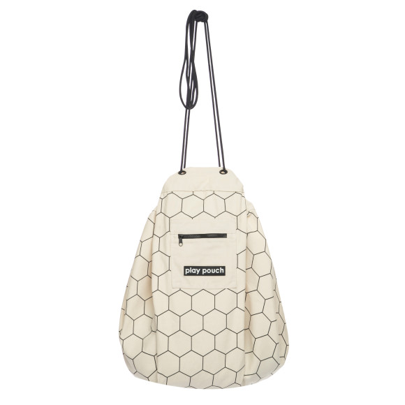 Honeycomb printed play pouch hanging