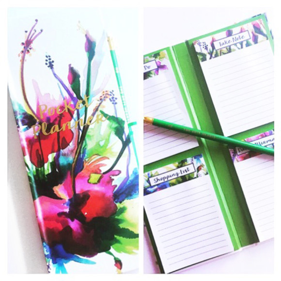 The divine Floral Hard Cover Pocket Planner book
