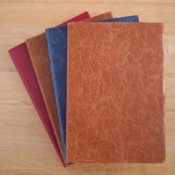 Caramel, Slate Blue, Chocolate and Red