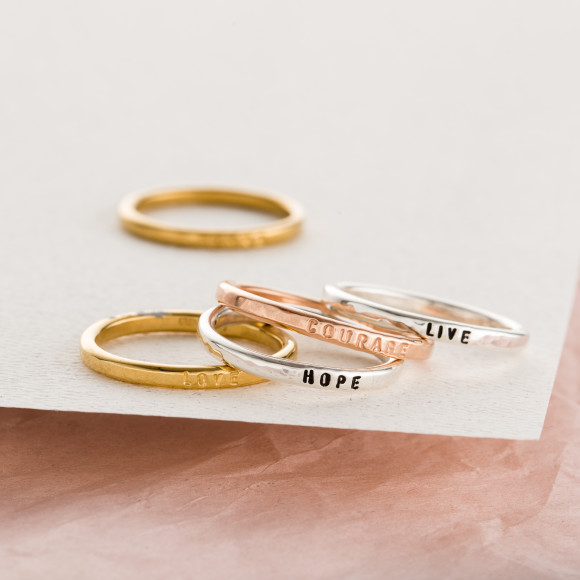 Personalised Sterling Silver Stacker Rings
